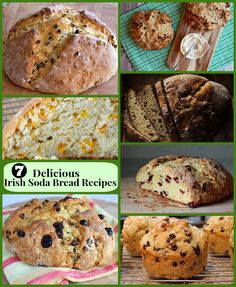 7 Delicious Irish Soda Bread #Recipes >> Classic, Apricot- Orange, Dried Cherry and Raisin, Brown Butter, Cinnamon-Raisin, Cranberry-Orange and Muffins!
