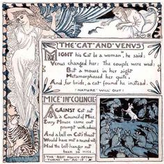 The Cat And Venus from The Baby's Own Aesop by Walter Crane