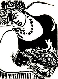 Maria Lucia Pacheco: Mulher com gato
