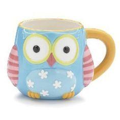 """Whimsical Owl Coffee Mug/cup With """"Life's A Hoot"""" Printed On Back Of Mug"""