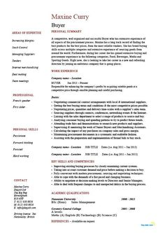 Buyer Resume, Sample, Template, Example, Job Description, Key Skills, Retail  Retail Skills For Resume