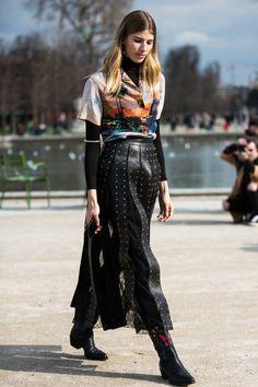 c02943c08a7c Street looks à la Fashion Week automne-hiver 2016-2017 de Paris
