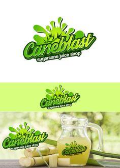 Contest Entry for Design a Logo for a Sugarcane juice shop Food Logo Design, Logo Food, Branding Design, Typography Logo, Typography Design, Logo Inspiration, Pickle Brands, Juice Store, Juice Logo
