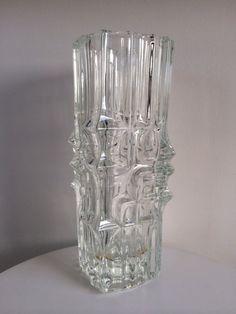 Vladislav Urban Pressed Glass Vase By Rosice glassworks