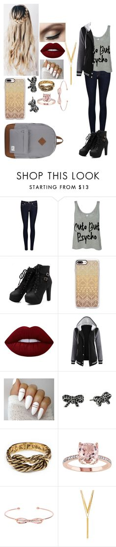 """School"" by magcon1d ❤ liked on Polyvore featuring rag & bone/JEAN, Casetify, Lime Crime, Marc Jacobs, Ted Baker, BERRICLE and Herschel Supply Co."