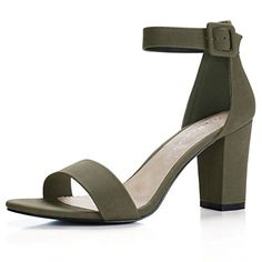 26c4befbbfc3 Allegra K Woman Chunky High Heel Ankle Strap Sandals (Siz... https