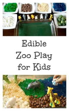 Edible Zoo Play for Kids...Fun Invitation to Create and Sensory Play!