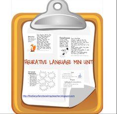 The Diary of a Not So Wimpy Teacher: Figurative Language Mini Unit