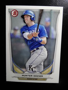 2014 Bowman #BP51 Hunter Dozier Kansas City Royals Baseball Card #Bowman #KansasCityRoyals