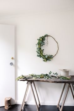 Wildflower Christmas wreathes: yes, yes and yes. This one is Australian wattle and eucalyptus, but see what you can forage in your area.