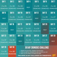 30 Day Crunches Challenge