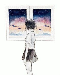 Fille dessin idée dessin petite fille belle en dessin de filles idée cool fenetre coloré ciel