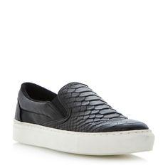 BERTIE LADIES PUTNEY - Textured Slip On Shoe With Vulcanised Sole - black   Dune Shoes Online