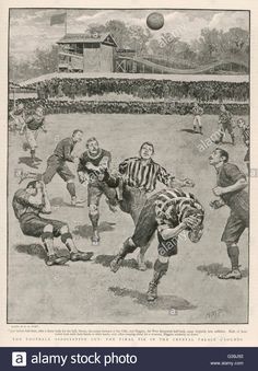 Stock Photo - CUP FINAL Aston Villa win against West Bromwich Albion at the Crystal Palace. Final score Date: April 1895 Photo Cup, Aston Villa Fc, Sir Alex Ferguson, West Bromwich, Football Art, Crystal Palace, Finals, Old Things, Stock Photos