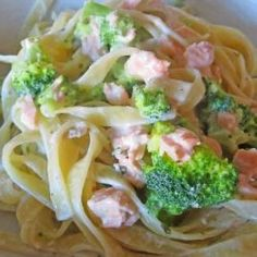 This pasta broccoli salmon pasta recipe is a favorite on days when we're both going to be late home and just want something that can be on the...