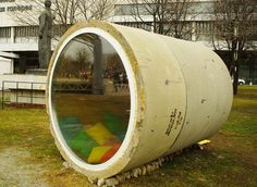 What a neat idea for a play house, study, or anything really! Unusual Hotels, Concrete Houses, Tiny House, Shelter, Tube, Projects To Try, Russia News, Backyard, Hostel