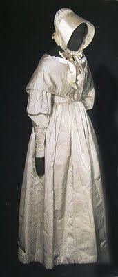 Quaker wedding dress, 19th century