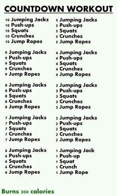 nice Workout circut...
