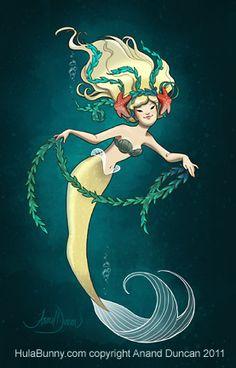 The Art of Anand Duncan: Seaweed Mermaid for GDG Vol 4