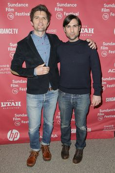 Pin for Later: See How Hollywood Has Heated Up Park City For the Sundance Film Festival  Adam Scott and Jason Schwartzman linked up on the red carpet at the premiere of The Overnight.