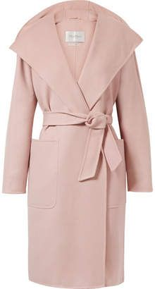 Max Mara - Hooded wool and cashmere-blend coat Pretty Pastel, Pastel Pink, Max Mara Coat, Winter Coat, Balmain, Going Out, Peplum Dress, Hoods, Cashmere