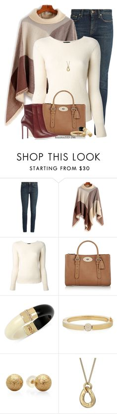 """""""Fall Poncho"""" by houston555-396 ❤ liked on Polyvore featuring Yves Saint Laurent, The Row, Mulberry, INC International Concepts, Chloé and Michael Kors"""