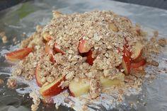 foil packed Apple Crisp great dessert for camping.