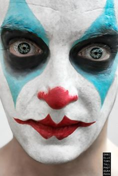 Scary Clown Makeup Tutorial - Halloween Face Paint   Halloween ...