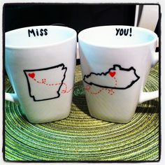 DIY state coffee mugs!  Http://tobystailsblog.com