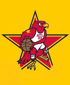 Atlanta Hawks All Star 2003 Hawk Facts, Atlanta Hawks, Nba Champions, Basketball Teams, All Star, Disney Characters, Fictional Characters, Converse, Star