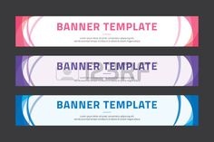 Colorful banner template Outdoor Banners, Banner Template, Bullets, Print Design, Layout, Templates, Marketing, Poster, Stencils