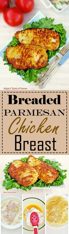 This Breaded Parmesan Chicken Breast goes with just about any type of side dish. This type of recipe is best for sandwiches, because it does not have much seasoning added to it.