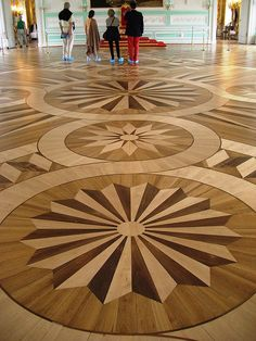 INLAID FLOORS IN MARQUETRY OF PRECIOUS RARE WOOD~ Peterhof, Petrodvorets, Saint…