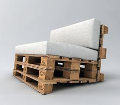 pallet sofa build your own instructions - muebles con tarimas palets - Pallet Garden Furniture, Pallet Chair, Pallet Beds, Recycled Furniture, Rustic Furniture, Diy Furniture, Furniture Plans, Palette Furniture, Furniture Stores