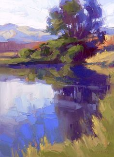 David Mensing Fine Art Plein Air painting workshops at Cullowhee Mountain Arts Beautiful Colour blocking and simple format. Landscape Art, Landscape Paintings, Paintings I Love, Colorful Paintings, Love Art, Painting Inspiration, Amazing Art, Abstract Art, Abstract Sculpture