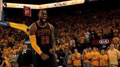 Lebron James goes Super Saiyan after winning Game 2 of the NBA Finals - GIF on Imgur
