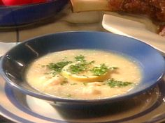 Avgolemeno (Chicken Soup with Egg-Lemon Sauce) from FoodNetwork.com - The secret of course is the eggs - also I prepare the chicken in a crock pot!