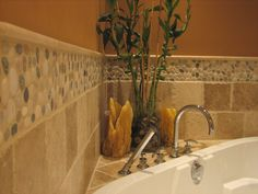 Merveilleux Pebble Border Tiles For Bathrooms, Bathroom Wall Tiles, Stone Bathroom, Bathroom  Tile Designs