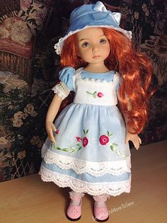 Dots 'n' Roses for Effner Little Darling Doll by SewMuchMoreToSew
