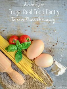 "Love these reasons for stocking a frugal real food pantry - she's saving hundreds every year! See her tricks, and download a free checklist to get your own frugal pantry going today! :: <a href=""http://DontWastetheCrumbs.com"" rel=""nofollow"" target=""_blank"">DontWastetheCrumb...</a>"