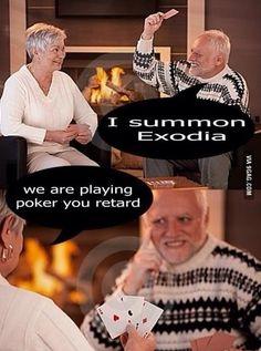 Harold playing cards