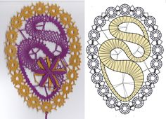 Bobbin Lace Patterns, Lace Heart, Lace Jewelry, Lace Detail, Easter, Butterfly, Symbols, Letters, Stitch