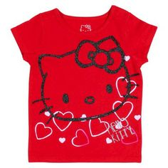 Toddler Girl Hello Kitty Valentine's Day Tee