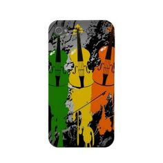 Grunge Violins iPhone 4/4S Case Iphone 4 Cases by Fashion Phones