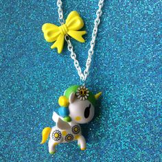 Margherita - Tokidoki Unicorn Necklace with Yellow Bow Charm