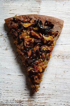 smakoterapia PIZZA BUCKWHEAT, no dairy products, sugar, gluten free, vegan Gluten Free Pizza, Vegan Pizza, Lactose Free, Gluten Free Recipes, Vegan Dessert Recipes, Healthy Recipes, Healthy Food, Dinner Recipes, Eat Happy