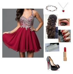 """""""Lady in Red """" by sanai2003 ❤ liked on Polyvore featuring Chanel"""