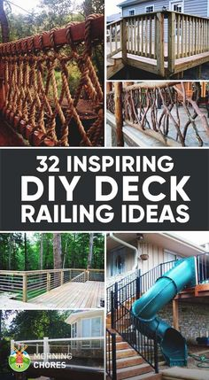If your favorite outdoor space is your deck, we give you over 30 inspiring Deck Railing Ideas to show how you can spruce it up, from DIY to store bought.