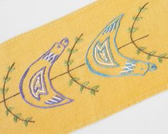 Hand Embroidered Easter Table Runner from Sweden Mid by Wohnstadt