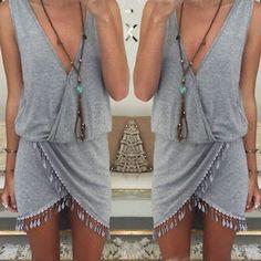 Boho Beach Party Dress